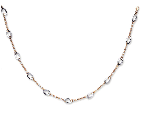 White and Yellow Gold Fancy Link Chain TGC-CN0526