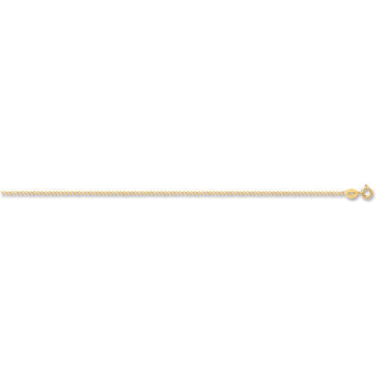 Yellow Gold Classic Hollow Curb Chain TGC-CN0528