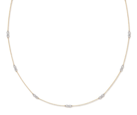 Yellow and White Gold Eternity Chain TGC-CN0530