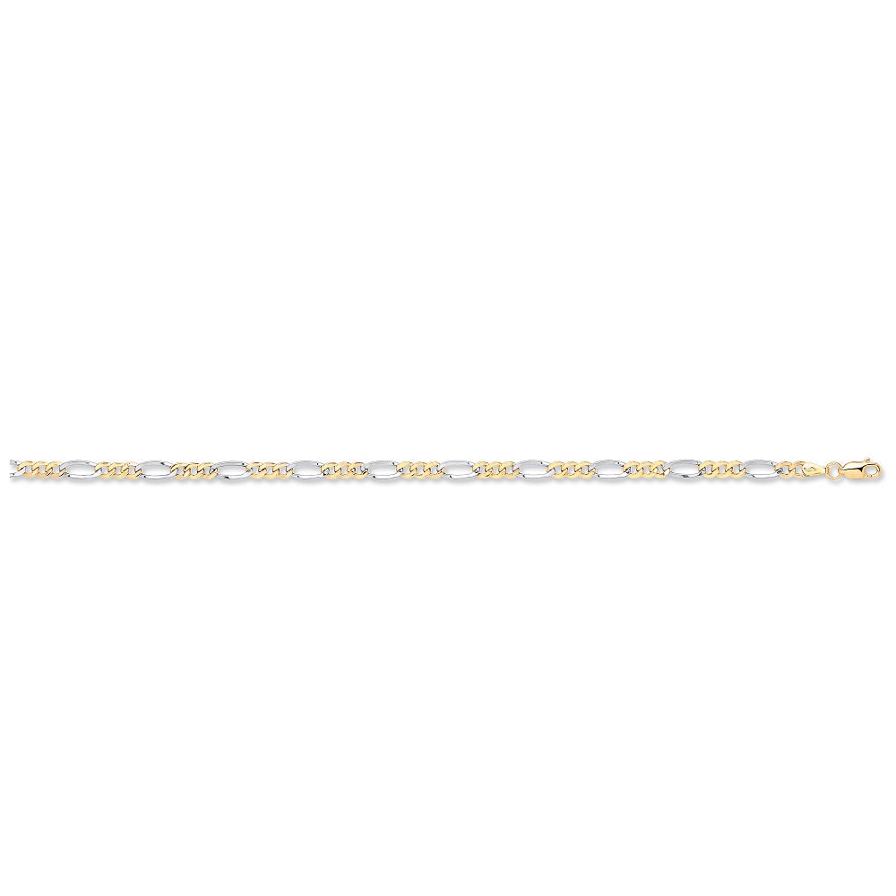 bracelet yellow white link oval products the hollow gold atkinsons