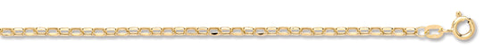 Yellow Gold Hollow Diamond Cut Belcher TGC-CN0540