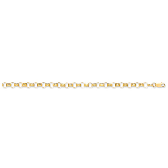 Yellow Gold Plain & Engraved Round Belcher Chain TGC-CN0543-BB