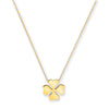 "Yellow Gold Rolo Chain, 4 Leaf Clover, Adjustable from 18"" to 16""/14"" TGC-CN0548"