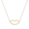 Yellow Gold Rolo Chain, Lips, Adjustable Lenghts TGC-CN0551