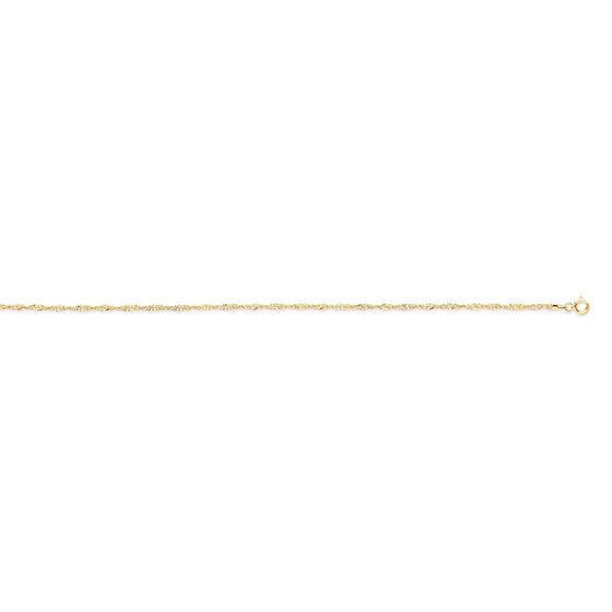 Yellow Gold Hollow Singapore Chain TGC-CN0554
