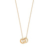 "Yellow Gold Interlinked Hollow Rings 17""/16"" Necklace TGC-CN0572"
