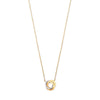 Yellow Gold Entwined 3 Rings Cz Necklace TGC-CN0576