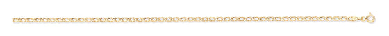 Yellow Gold Hollow Double Curb Chain TGC-CN0584