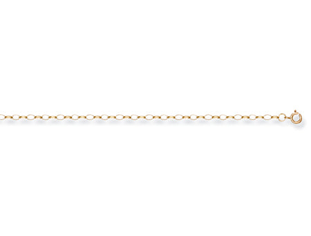 Yellow Gold Oval Belcher Chain TGC-CN0103