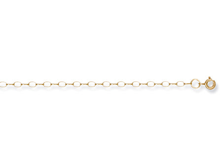 Yellow Gold B 1/4 Light Oval Belcher Chain TGC-CN0105