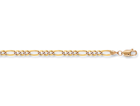 Yellow Gold Rhodium Plated Figaro Chain TGC-CN0155-BB
