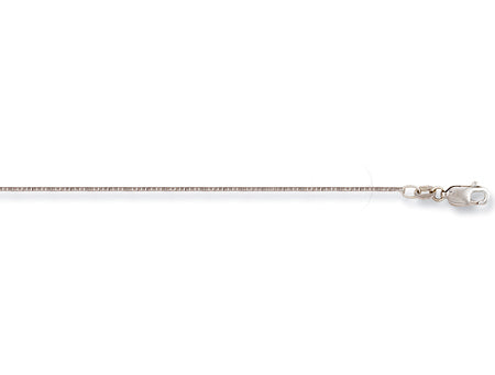 18ct White Gold Box Chain TGC-CN0369