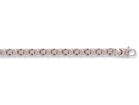 White Gold Flat Byzantine Chain TGC-CN0375-GB