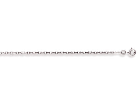 White Gold Diamond Cut Belcher Chain TGC-CN0416