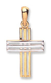Yellow & White Gold Fancy Cross TGC-CX0186