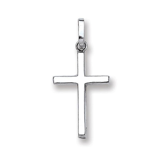 White Gold Hollow Cross TGC-CX0204
