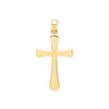 Yellow Gold Oval Ends Plain Cross TGC-CX0216