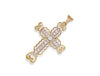Yellow Gold Fancy Pave Set Cz Cross TGC-CX0032
