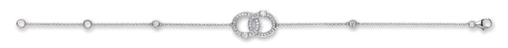 9ct White Gold 0.17ct Diamond Bracelet TGC-DBR0085