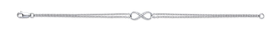 9ct White Gold 0.15ct Diamond Bracelet TGC-DBR0086