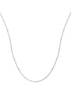 18ct White Gold 1.00ct Rubover Diamond Chain (36in/91cm) TGC-DCN0058