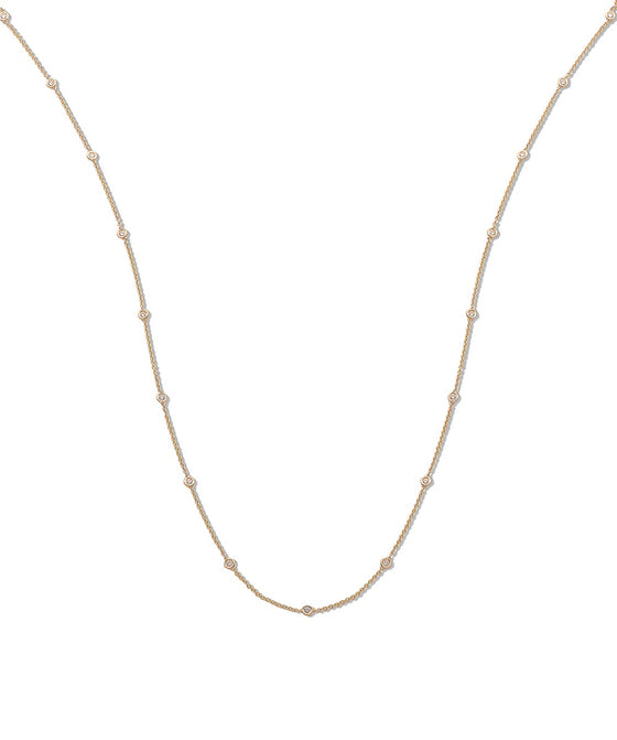 18ct Yellow Gold 1.00ct Rubover Diamond Chain (36in/91cm) TGC-DCN0060