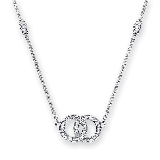 9ct White Gold 0.17ct H-SI Diamond Chain TGC-DCN0066