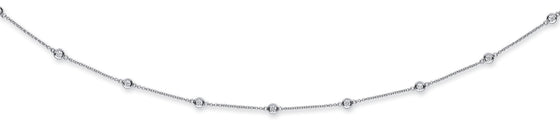18ct White Gold 1.00ct Rubover Diamond Chain (18in/45cm) TGC-DCN0068
