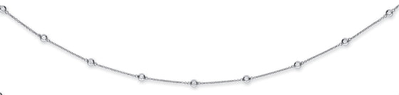 18ct White Gold 2.00ct Rubover Diamond Chain (36in/91cm) TGC-DCN0069