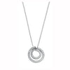 9ct White Gold 0.31ct Diamond Circle Pendant with 18in/45cm Chain TGC-DCN0010