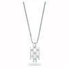 9ct White Gold 0.20ct Diamond Drop Pendant with 18in/45cm Chain TGC-DCN0017