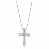 9ct White Gold 0.50ct Brilliant & Baguette Cut Diamond Cross Pendant with 18in/45cm Chain TGC-DCN0045