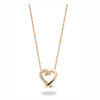 9ct Yellow Gold 0.05ct Diamond Heart Pendant with 18in/45cm Chain TGC-DCN0004