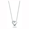 9ct White Gold 0.05ct Diamond Heart Pendant with 18in/45cm Chain TGC-DCN0005