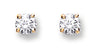 18ct Yellow Gold 0.25ct Claw Set Diamond Stud Earrings TGC-DER0001