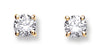 18ct Yellow Gold 0.50ct Claw Set Diamond Stud Earrings TGC-DER0002