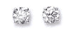 18ct White Gold 1.00ct Claw Set Diamond Stud Earrings TGC-DER0117