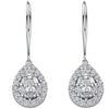 18ct White Gold 1.70ct Diamond Drop Earrings TGC-DER0170