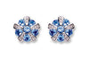 9ct White Gold Diamond & Tanzanite Earrings TGC-DER0181