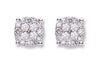 18Ct White Gold Cluster 0.75ct Diamond Studs TGC-DER0183