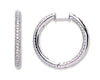 18Ct White Gold 1.60ct Diamond Hoop Earrings TGC-DER0189