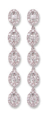 18ct White Gold 1.25ct Diamond Drop Earrings  TGC-DER0193