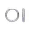 18ct White Gold 1.33ct Diamond Hoop Earrings TGC-DER0194