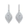 18ct White Gold 0.50ct Diamond Drop Earrings  TGC-DER0205