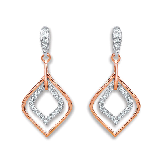 18ct Rose Gold 0.30ct Diamond Drop Earrings  TGC-DER0207