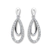 9ct White Gold 0.20ct Diamond Drop Earrings  TGC-DER0218