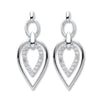 9ct White Gold 0.25ct Diamond Drop Earrings  TGC-DER0223