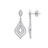 18ct White Gold 0.75ct Diamond Drop Earrings  TGC-DER0238