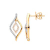 9ct Yellow Gold 0.25ct Diamond Drop Earrings  TGC-DER0247