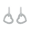 9ct White Gold 0.50ct Diamond Heart Drop Earrings TGC-DER0107